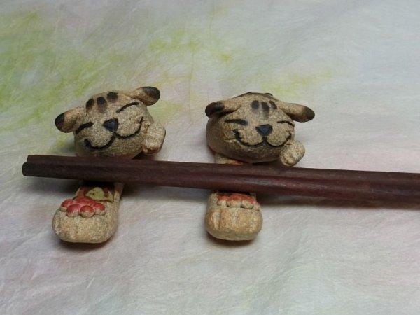 画像1: 猫パンチ箸置き (1)