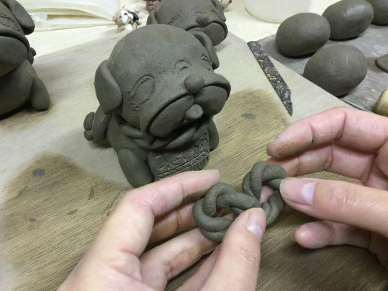 土佐犬の製作風景です